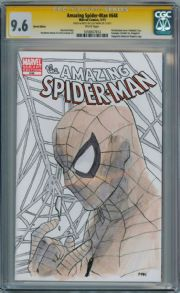 Amazing Spider-man #648 CGC 9.6 Signature Series Signed Clay Mann Sketch OA Marvel comic